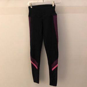 lululemon athletica Pants - Alo Yoga black and purple legging, sz xs, 66335